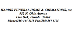 Harris Funeral Home & Cremations | Obituaries | Suwannee